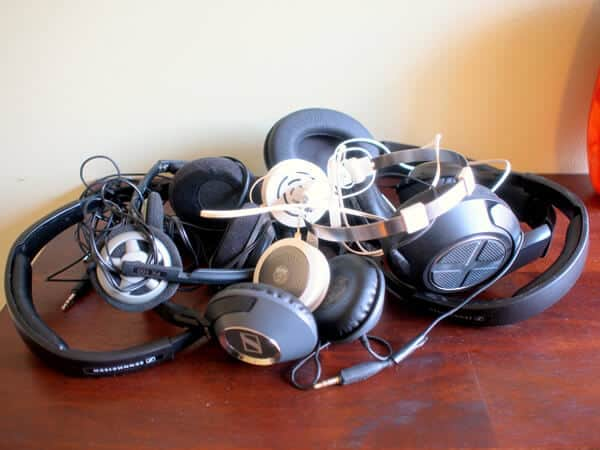 Just some of the portable headphone that have broken on my over the years!