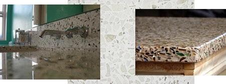 EnviroGLAS Recycled-Glass Terazzo Countertop