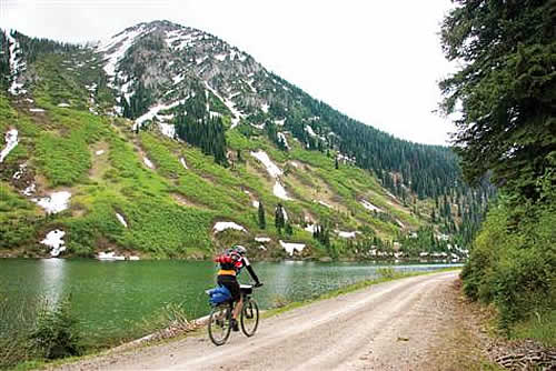 Cyclist On Great Divide Bike Trail