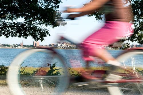 Biking In Portland's Back Bay