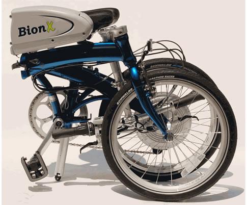 Dahon Mu With Bionx Folded
