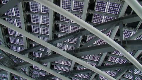 Solar Panels On Stadium In Taiwan