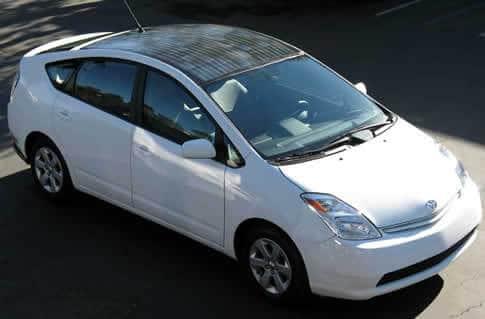 Toyota Prius With Solar Panels